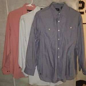 3 long sleeve collar shirt